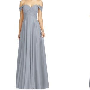 Dessy Lux Ruched Off the Shoulder Chiffon Gown